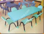 الطاولة المستطيلة لقاعات الأطفال