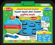 الحقيبة الإبداعية لمهارات تعلم الحروف العربية بالرسم والتلوين