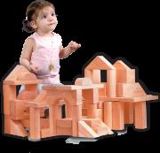 عربة البناء والهدم الخشبية