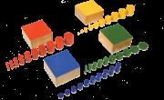 مجموعة اسطوانات ذات مقبض 4 قطع ملونة