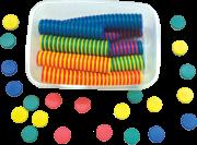 الأقراص البلاستيكية الملونة المغناطيسية