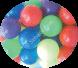 كرة بلاستيك ملونة