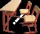 / المقاعد المدرسية / ثلاثي