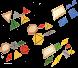 المثلثات الإنشائية 5 قطع