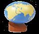 الكرة الأرضية اليابسة والماء