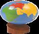 الكرة الأرضية القارات